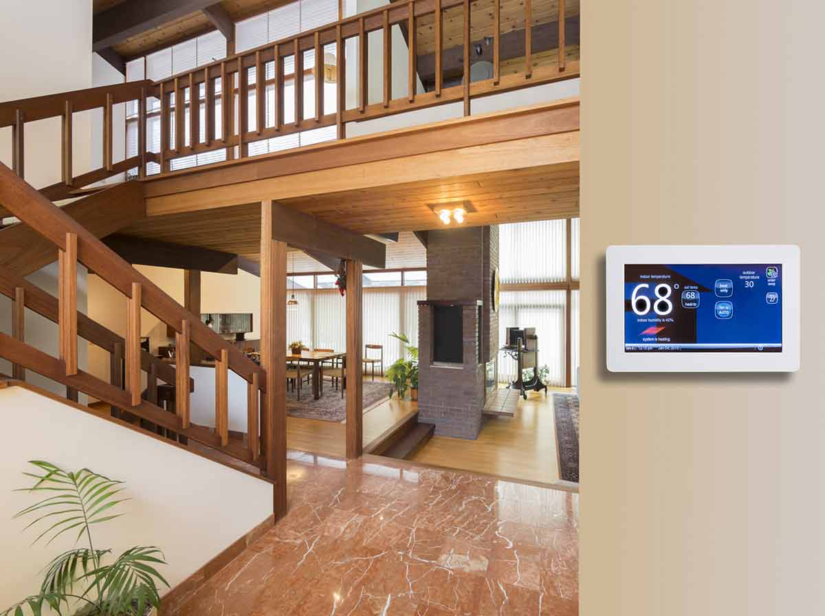 Thermostat located out of direct sunlight can help fix hot and cold spots in your house